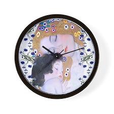 Klimt Art Deco Mother Child Wall Clock