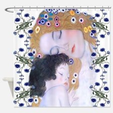 Klimt Art Deco Mother Child Shower Curtain
