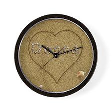 Donna Beach Love Wall Clock