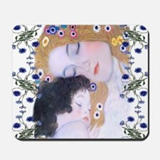 Klimt Art Deco Mother Child Mousepad