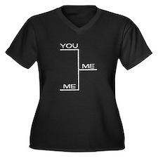 Cute Baseball playoffs Women's Plus Size V-Neck Dark T-Shirt