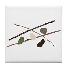 Sticks And Stones Tile Coaster