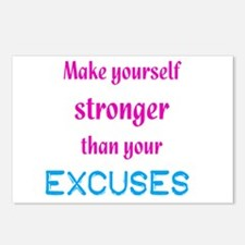 Stronger Than Excuses Postcards (Package of 8)