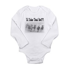 Funny Horse racing Long Sleeve Infant Bodysuit