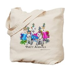 Fox Terrier Party Animals Tote Bag