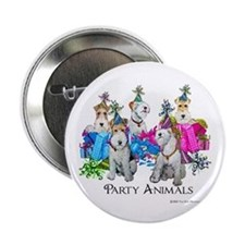 Fox Terrier Party Animals Button