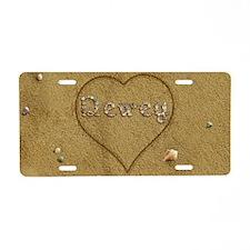 Dewey Beach Love Aluminum License Plate