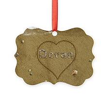Devan Beach Love Ornament