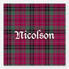 "Tartan - Nicolson Square Car Magnet 3"" x 3"""