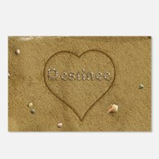 Destinee Beach Love Postcards (Package of 8)