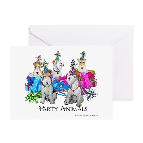 Fox Terrier Party Animals Greeting Cards (Pk of 20