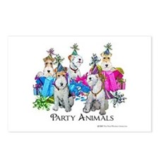 Fox Terrier Party Animals Postcards (Package of 8)
