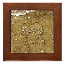 Dena Beach Love Framed Tile