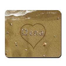 Dena Beach Love Mousepad