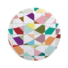 Abstract Colors Tapestry Ornament (Round)