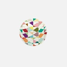 Abstract Colors Tapestry Mini Button