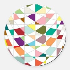 Abstract Colors Tapestry Round Car Magnet