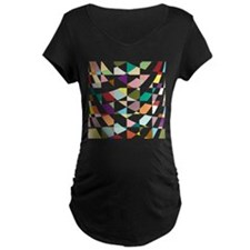 Abstract Colors Tapestry Maternity T-Shirt