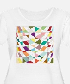 Abstract Colors Tapestry Plus Size T-Shirt