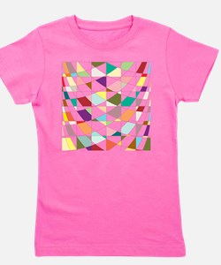 Abstract Colors Tapestry Girl's Tee