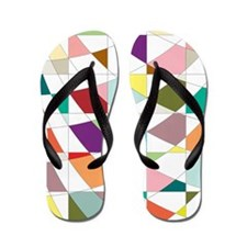 Abstract Colors Tapestry Flip Flops