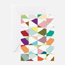 Abstract Colors Tapestry Greeting Cards