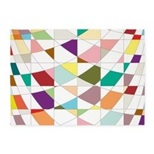 Abstract Colors Tapestry 5'x7'Area Rug