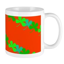Orange Irish 4 Leaf Clover Seamus Loves Mugs