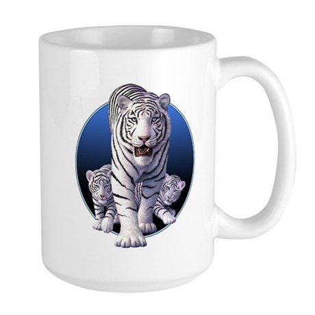White Tigers 1 Large Mug