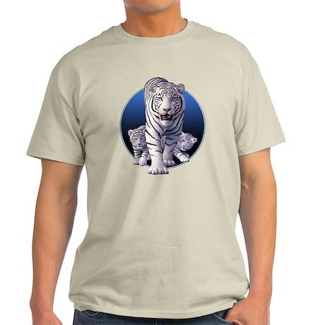 White Tigers 1 Light T-Shirt