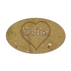 Delia Beach Love 20x12 Oval Wall Decal