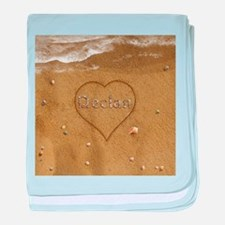 Declan Beach Love baby blanket