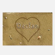 Declan Beach Love Postcards (Package of 8)