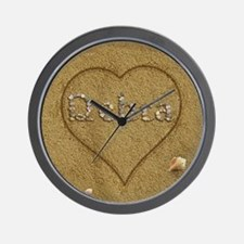 Debra Beach Love Wall Clock