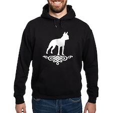 Boston Terrier Flourish (white) Hoodie