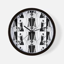 1920s flapper 2 Wall Clock