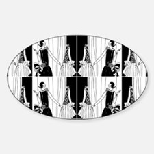 1920s flapper 2 Decal