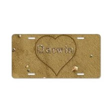 Darwin Beach Love Aluminum License Plate