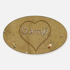 Darryl Beach Love Sticker (Oval)