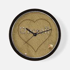 Darrell Beach Love Wall Clock