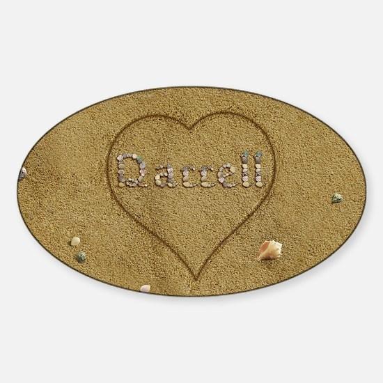 Darrell Beach Love Sticker (Oval)