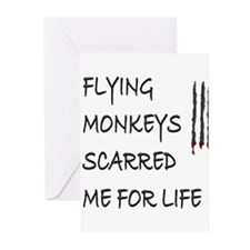 Cute Flying monkeys Greeting Cards (Pk of 20)