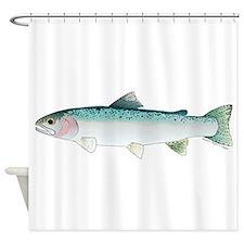 Steelhead rainbow trout Shower Curtain