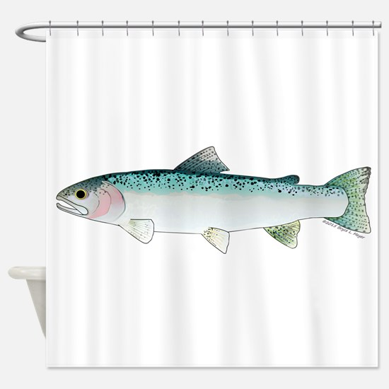 Steelhead rainbow trout Shower Curtain