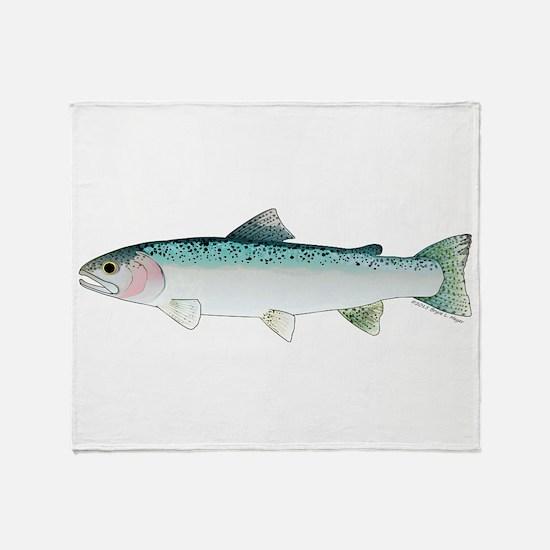 Steelhead rainbow trout Throw Blanket