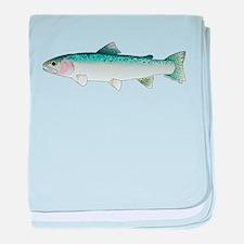 Steelhead rainbow trout baby blanket