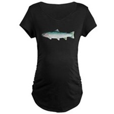 Steelhead rainbow trout Maternity T-Shirt