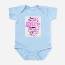 Alice in Wonderland Word Art Body Suit