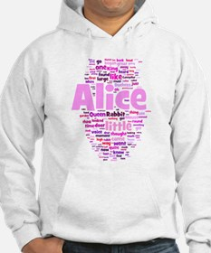 Alice in Wonderland Word Art Hoodie Sweatshirt