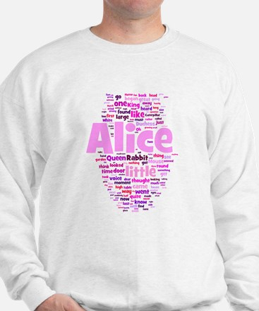 Alice in Wonderland Word Art Sweater